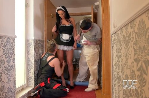 Pervy Workforce – Deep Double Penetration In The Hallway – Samantha Blaze, Choky Ice, Luke Hotrod (2016)