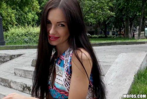 Russian Brunette Fucks Outdoors – Sasha Rose (2016)
