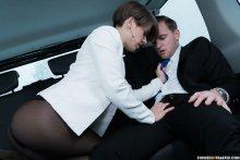 FuckedInTraffic – Petite Ukrainian babe Sasha Zima gets cum on pussy in hot traffic fuck (2017)