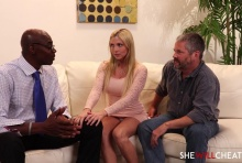 Blonde Hotwife fucks BBC in front of Cuckold Husband – Christie Stevens, Sean Michaels (2016)