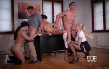 Back To School – Horny Students' Group Sex Lectures – Suzy Rainbow, Kayla Green, Aletta Ocean