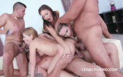 LegalPorno – Double addicted 5on2 with Sasha Zima and Tanya Swank – No Pussy / Balls Deep Anal / DAP / Anal Fist / Gapes / ATOGM GIO430 (2017)