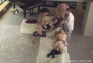 Cara St Germain, Lucy Heart | Cara & Lucy, Hardcore Orgy With 4 Men | 2016