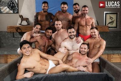 11 Gay Porn Stars Fuck & Get Fucked In This Bareback Orgy | Andrey Vic, Andy Star, Drake Rogers, Jackson Radiz, James Castle, Ken Summers, Manuel Skye, Max Arion, Michael Lucas, Victor DAngelo & Viktor Rom