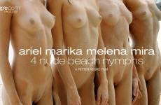 Ariel Marika Melena Mira 4 Nude Beach Nymphs (2018)