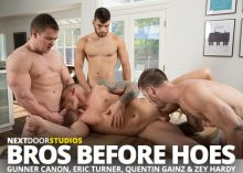 Bros Before Hoes – Quentin Gainz, Gunner Canon, Zey Hardy & Eric Turner – Bareback