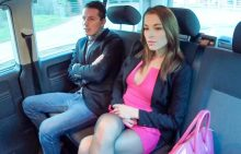 FuckedInTraffic – Horny Czech beauty Victoria Daniels enjoys intense backseat sex with driver (2017)