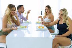 Our Horny Lesbian Housemates – Alexis Monroe, Cali Carter, Jessa Rhodes & Keiran Lee (2017)