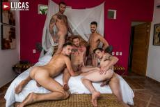 Shawn, Carlos, Aaden, Damon, Dakota | Bareback Five-Way | 2018