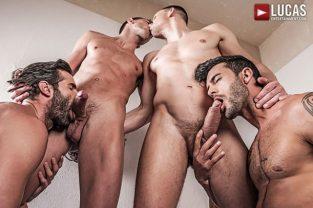 Fuck n Cuck – Andrey Vic, Bogdan Gromov, Dani Robles & Andy Star – Bareback Orgy (2017)