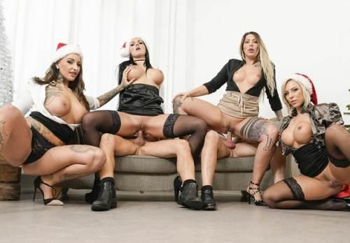 BumsBuero – X-mas office orgy w/ German babes Mia Blow, Jolee Love & Lilli Vanilli Pt.2 (2017)