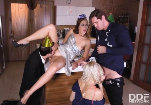 Group Sex on New Year's Eve – Kitana Lure, Ani Blackfox, Kai Taylor (2017)