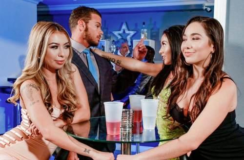 ScamAngels – Wild FFM threeway fuck fest with hot American chicks Kat Dior & Morgan Lee (2017)
