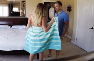 Step Brother Caught Peeping By Step Sister By The Pool – Alexis Adams (2017)