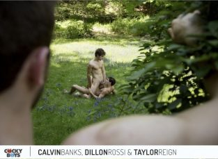 Summer Sex With Calvin, Dillon And Taylor! – Calvin Banks, Dillon Rossi & Taylor Reign (2017)
