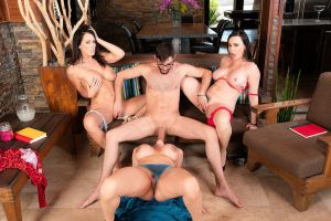Ariella Ferrera, Dana DeArmond, Reagan Foxx & Logan Long in My Friend's Hot Mom | 2018