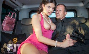 FuckedInTraffic – Italian babe Francesca Di Caprio craves some car sex at the airport (2017)