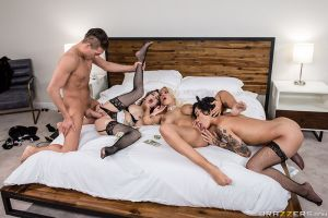 Rich Fucks: Part 2 | Bridgette B, Honey Gold, Kristen Scott & Xander Corvus | 2018