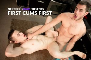 First Cums First | Dante Martin, Carter Woods | Bareback | 2018