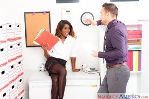 Ana Foxxx & Johnny Castle in Naughty Office