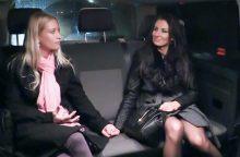 FuckedInTraffic – Cheeky Czech brunette Sandra enjoys intense FFM threesome in the backseat (2017)