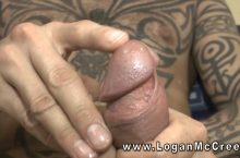 Logan McCree German Foreskin Close-Up Precum Masturbation & Moaning Orgasm (Solo)