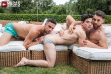 Bareback Auditions 9: Eager To Please Scene 1 – Damon Heart, James Castle & Dakota Payne (2017)